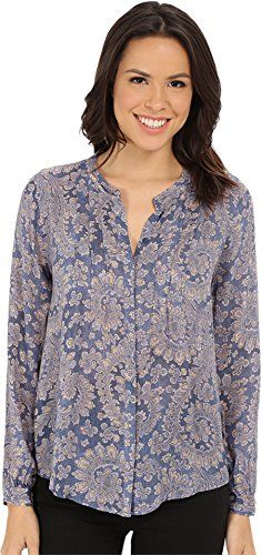 5e58155f0b Lucky Brand Womens PlusSize Textured Paisley Top BlueMulti XSmall      Details can be found by clicking on the image.(It is Amazon affiliate link)    ...