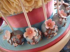 More cherry blossom cake pops