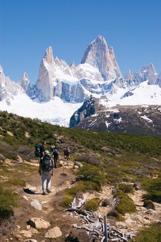 Hiking towards the El Chalten ice peaks in Argentina. Photo by Anne Frigon - I'll be here in November!!!