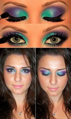 TUTORIAL :: A full STEP-by-STEP tute using BH Cosmetics 120 Palette 2nd Edition...which is the only one I happen to have! Very peacock-y... by krimzinart