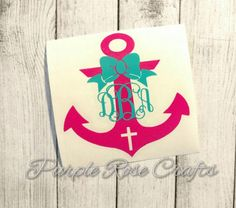 A personal favorite from my Etsy shop https://www.etsy.com/listing/291290281/cross-anchor-bow-monogram-initials-decal