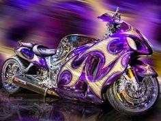 gorgeous purple motocycle  www.1goodcar.com