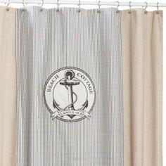 Beach Cottage 72-Inch x 72-Inch Shower Curtain - BedBathandBeyond.com