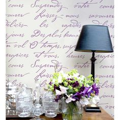 Try wall stencils instead of expensive wallpaper! Cutting Edge Stencils offers the best stencils for DIY décor - stencils expertly designed by professional decorative painters Janna Makaeva and Greg Swisher who have over 20 years of painting experience. We are a reputable stencil company that stands behind its high quality product. We are honored to have your 100% positive feedback :)  This beautiful French Poem typography stencil is more than just a pretty (type)face. Its a daily reminder…