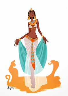 Egypte by AzureOcean on DeviantArt Character Concept, Character Art, Concept Art, Character Illustration, Illustration Art, Illustrations, Arte Sketchbook, Art Africain, Modern Artwork