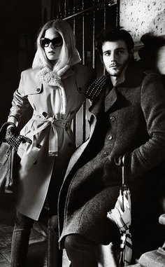 'Winter Shadows': The Burberry Autumn/Winter 2012 campaign featuring Gabriella Wilde and Roo Panes