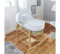 Buy Clair De Lune Stars & Stripes Palm Moses Basket - Grey at Argos.co.uk, visit Argos.co.uk to shop online for Moses baskets, stands and mattresses, Nursery furniture, Home and garden