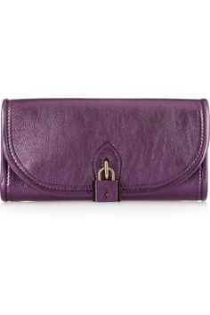 Burberry Prorsum | Metallic leather padlock clutch | NET-A-PORTER.COM