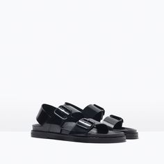 BUCKLED SANDALS WITH FOOTBED-View all-Shoes-WOMAN | ZARA United States
