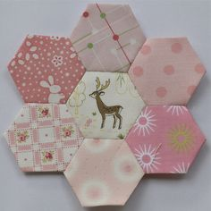Pink hexies by clair101, via Flickr