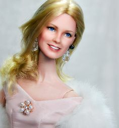 custom repaint of 12-inch Mattel Cheryl Ladd doll (by Noel Cruz)
