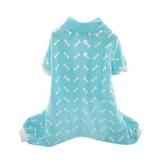 FouFou Dog Bone PJ, Medium, Blue ^^ Amazing product just a click away  : Costumes for dog