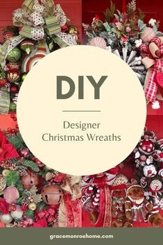 Stunning DIY Designer Holiday Wreaths Mesh Wreath Tutorial, Diy Wreath, Wreath Making, Wreath Ideas, Christmas Favors, Kids Christmas, Christmas Decor, Holiday Decor, Christmas Mesh Wreaths