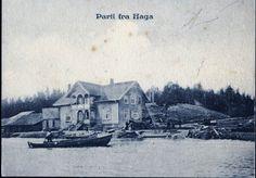 Haga Nes kommune Akershus fylke - båt på Glomma stp 1911
