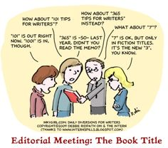 Comic: The Book Title.  Comic by: Hilary T. Smith