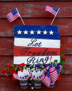 s 15 unusual flag ideas that actually look amazing, Build A Planter In The Star Spangled Banner Hanging Planter Boxes, Wood Planter Box, Planters, 4th Of July Party, Fourth Of July, American Flag Crafts, Spangled Banner, Star Spangled, Painting Glass Jars