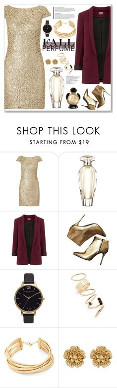 """""""Fall Perfume"""" by cowseatchard ❤ liked on Polyvore featuring beauty, Adrianna Papell, Victoria's Secret, Alexander McQueen, Olivia Burton, BP., BCBGMAXAZRIA, Miriam Haskell and Cartier"""
