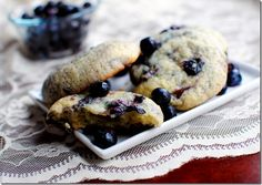 Blueberry muffin top cookies. It says 'stop wasting muffin stumps' haha! The top is always the best any way!