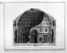 Section, Pantheon, Rome - Piranesi.