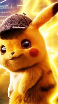 Detective Pikachu, Wallpaper – My Pin Page Pikachu Pikachu, Pichu Pokemon, Pikachu Funny, Pikachu Crochet, Cute Pokemon Wallpaper, Cute Cartoon Wallpapers, Disney Wallpaper, 3840x2160 Wallpaper, Phone Wallpapers