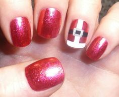 santa nails #christmasnails #winter