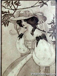 Ethel Larcombe Art Nouveau print in from Hill House Antiques