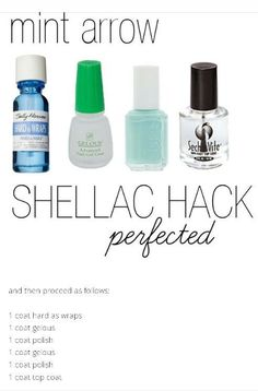 Easy shellac nails. I've perfected this nail hack and you have to try it out! Total game changer. Save now and try it later.