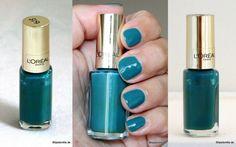 L'oréal Color Riche Le Vernis 613 Blue Reef #loréal #colorrichelevernis #bluereef