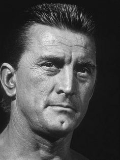 Kirk Douglas, actor usually played a tough guy.