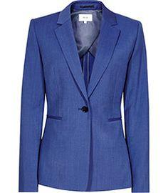 Arlo Jacket True Blue Single-breasted Blazer - REISS