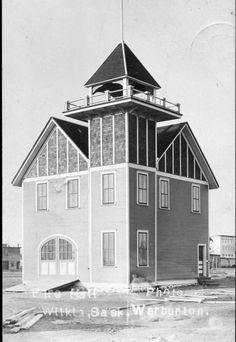 Fire Hall in Wilkie, Saskatchewan, Fire Hall, Saskatchewan Canada, Canadian History, Canada Travel, Vintage Photos, Postcards, Road Trip, Architecture, Building