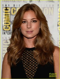 Emily VanCamp Long Wavy Cut - Emily's dirty blonde locks looked feathered and chic with a brushed out wavy 'do. Chris Evans Scarlett Johansson, Emily Thorne, Wavy Ponytail, Going Blonde, Emily Vancamp, Canadian Actresses, Hair Shades, Different Hairstyles, Winter Soldier