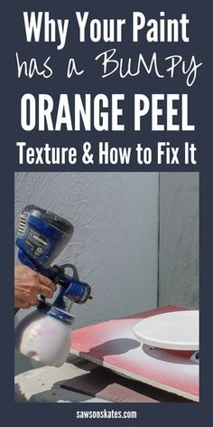 These 7 ideas to prevent orange peel totally fixed my problem. Now everytime I spray my paint is silky smooth! Car Painting, Spray Painting, Painting Tips, Painting Techniques, Painting Furniture, Painting Cabinets, House Painting, Best Paint Sprayer, Using A Paint Sprayer