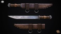 Seax Knife, Renato Corvalho on ArtStation at https://www.artstation.com/artwork/seax-knife