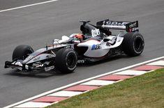 Christijan Albers in een Minardi in 2005, waarmee hij tijdens de Grand Prix van de Verenigde Staten zijn enige WK-punten behaalde.