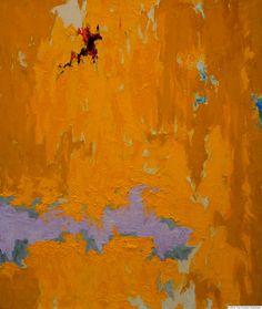 Clyfford Still painting. Yellow series, Clyfford Styll Museum, Denver.