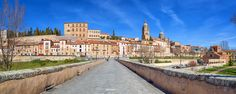 When the spring is coming - Panorama of the city of Salamanca from the Roman bridge.  The Old City of Salamanca was declared a UNESCO World Heritage Site in 1988. By Fralosal