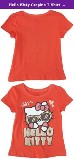 Hello Kitty Graphic T-Shirt (Toddler) - Coral-2T. Hello Kitty Graphic T Shirt (Toddler) - Coral Features: Made in the USA or imported 100% Cotton.