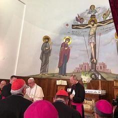 @antoniospadaro ・・・ Nella chiesa assito-Caldas di #Tbilisi per #PapaInGeorgia