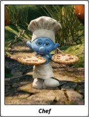 Pitufo Cocinero / Chef Smurf / Los Pitufos / The Smurfs / Live Action Cartoon Movies
