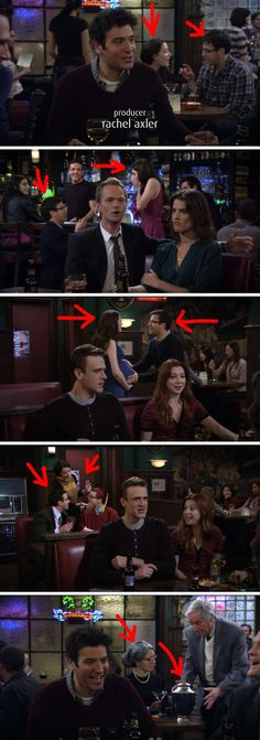 "This couple in the background who went from talking to getting engaged, to making a baby, to celebrating their kid's graduation, to the husband passing away, all in one scene. 21 Tiny Little Things You Never Noticed In ""How I Met Your Mother"" How I Met Your Mother, Ted Mosby, Mother Quotes, I Meet You, Film Serie, Comedy Series, School Memes, You Never, Best Funny Pictures"