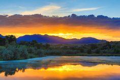 Last spring sunset in Arvada, Colorado (by Railheel)  wunderground.com