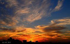 Sunset over San Antonio, TX