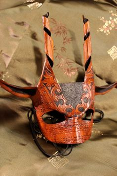 Pan Masquerade Leather Mask No. 16 $95.00