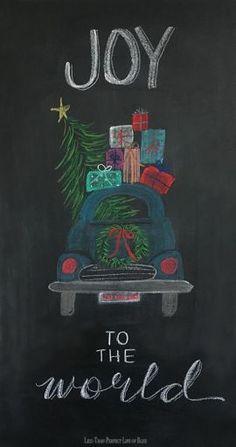 Christmas Chalkboard Art 13