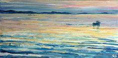 Home for tea   2010 Oil on canvas   600 x 300 #RosKochArt