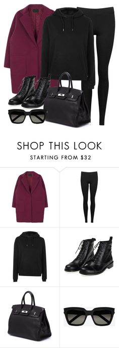 """""""Style #11601"""" by vany-alvarado ❤ liked on Polyvore featuring Vince, Topshop, Hermès and Yves Saint Laurent"""