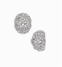 Estate Diamond Lattice Earrings