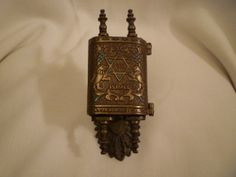 Vintage Judaica brass Torah with 10 Commandents on by shainkeit, $35.00
