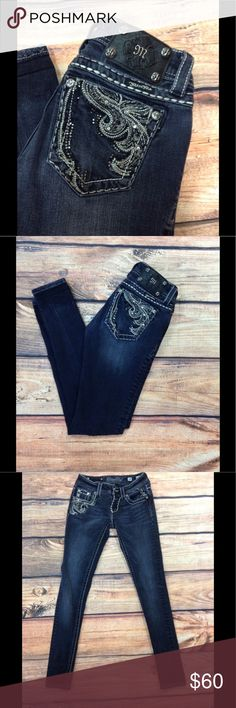 Black Miss Me Skinny Jeans Black/Dark Miss Me Skinny Jeans. Size 24. Inseam is 31 inches. In wonderful condition. Miss Me Jeans Skinny